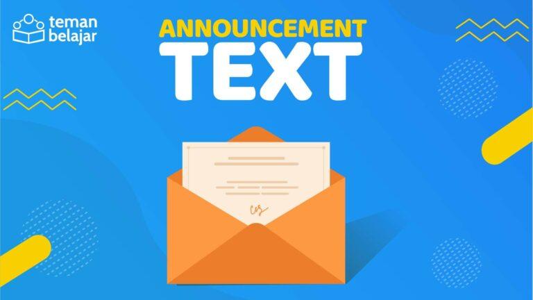 Announcement Text | Teman Belajar
